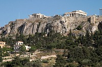 europe, greece, athens, ancient agora and acropolis