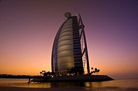Burj Al Arab Hotel designed to resemble a billowing sail, Dubai, United Arab Emirates