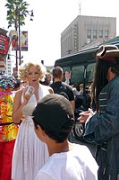 MARILYN MONROE LOOK_ALIKE ON HOLLYWOOD BOULEVARD, LOS ANGELES, CALIFORNIA, UNITED STATES, USA
