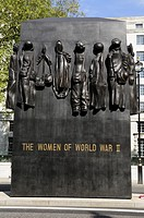 The Women of World War II memorial in Whitehall, London, England UK