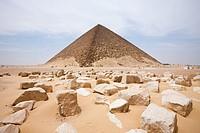 Red Pyramid of Pharaoh Snofru, Dahshur, Egypt