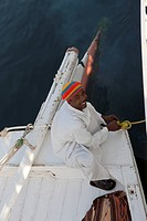 Captain of Nile River Felucca, Aswan, Egypt