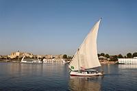 Felucca on Nile River, Aswan, Egypt