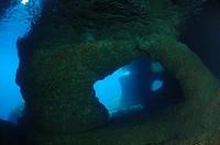 Underwater Cave, Bili Rat, Vis Island, Adriatic Sea, Croatia