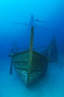 Uluburun II Wreck, Replica of Bronze Age Wreck, Kas, Mediterranean Sea, Turkey