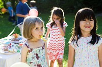 Children at outdoor party