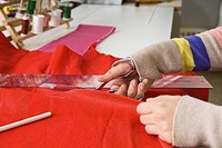 Cutting fabric (thumbnail)