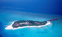 Maldives Island air image, Indian Ocean Ari Atol, Maldives Island