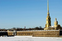 Russia, St Petersburg, Vassilievsky island, the Peter and Paul fortress