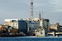 Russia, St Petersburg, russian cruiser Aurora