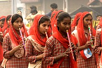India, New Delhi, student of an indian school (thumbnail)