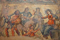Cyprus, Paphos, house of Dionysos, mosaic