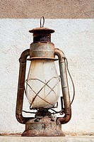 an old oil lamp