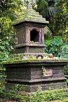 Indonesia, Bali, temple of Pura Luhur Batukaru, altar