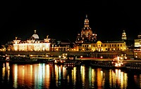 Dresden by Night, Dresden, Sachsen, Germany