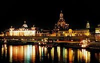 Dresden by Night, Dresden, Sachsen, Germany