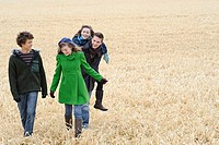 Group of friends in a field