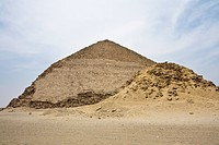 Bent Pyramid with Side Pyramid of Pharaoh Snofru, Dahshur, Egypt