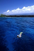 Snorkeling at Coast of Hawaii, Kona, Big Island, Hawaii, USA