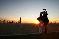 Late afternoon at the Huntington Beach Pier, California, USA
