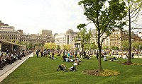 Piccadilly Gardens in Manchester city centre