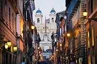 Spanish Steps and Church of Trinita dei Monti. Rome. Lazio.Italy.