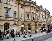 Shoppers on Milsom Street, Bath