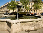 Fountain, Great Pulteney Street and Laura Place, Bath