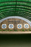 Archery targets on an archery range