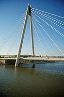 Marine Way bridge, southport, Merseyside, England, UK