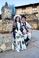 Botarga and mascarita Carnival, Almiruete  Tamajon, Guadalajara province, Castilla-La Mancha, Spain