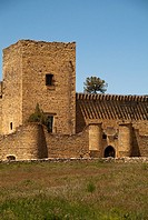 Keep of castle (13th-16th century), former fortress now houses a museum about painter Ignacio Zuloaga, Pedraza, Segovia province, Castilla-Leon, Spain