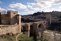 Bridge of San Martin over Tagus river, Toledo, Castilla-La Mancha, Spain