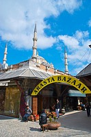 Arasta Bazaar market street gate Sultanahmet district Istanbul Turkey Europe