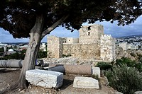 necropolis and castle of the cruzados in Byblos near the Lebanon
