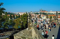 King Charles IV bridge. Prague. Czech Republic.