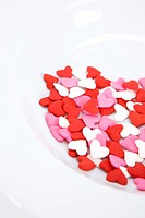 heart shaped sweets on the plate