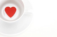 heart shape in the coffee cup
