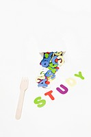 fork, alphabet and STUDY