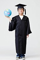 boy in graduation gown