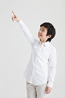 boy pointing something