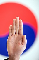 Oath in front of Korean flag, Taegeukgi (thumbnail)