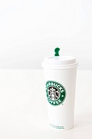 disposable cup of Starbucks