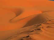 Sand dunes, close up, full frame