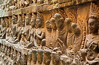 The Terrace of the Leper King is located in the northwest corner of the Royal Square of Angkor Thom, which is part of the Ankgor Wat complex in northe...