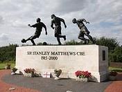 Statue of Sir Stanley Matthews at the Britannia Stadium, home of Stoke City Football Club