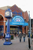 The entrance to the Potteries Shopping Centre, Stoke-on-Trent, Staffordshire, England