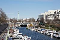 Port de l´Arsenal in Paris Bastille