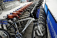 Row of Rental Bicycles