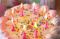 Knoxville, Tennessee, United States Of America, Candles Lit On A Birthday Cake